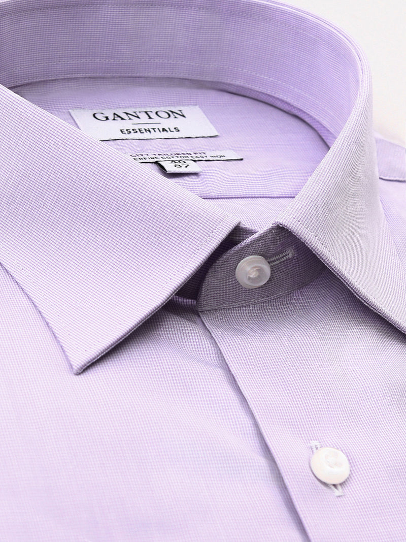 Purple Tailored Fit Emile Easy Iron Superfine Cotton Essentials Shirt