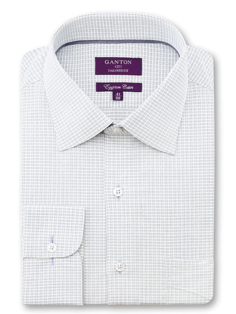 White Check Tailored Fit Donald Egyptian Cotton Shirt