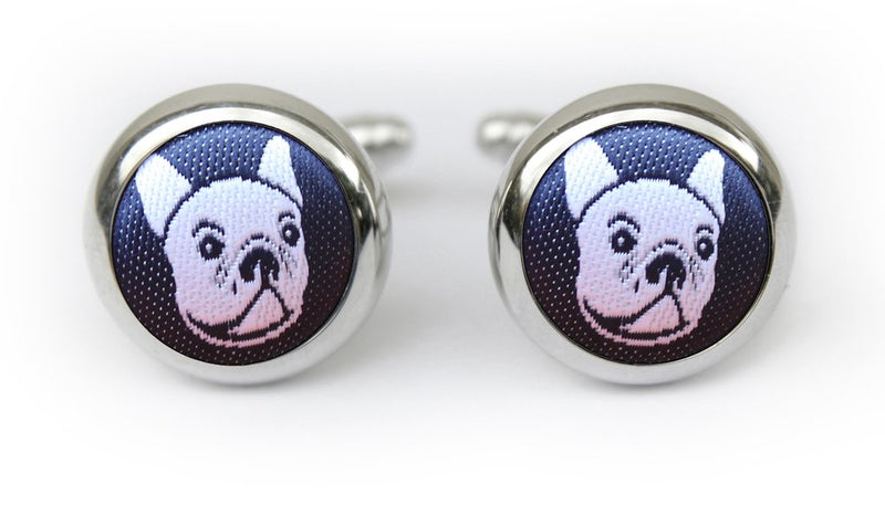 Hannmaid French Bulldog Cufflinks