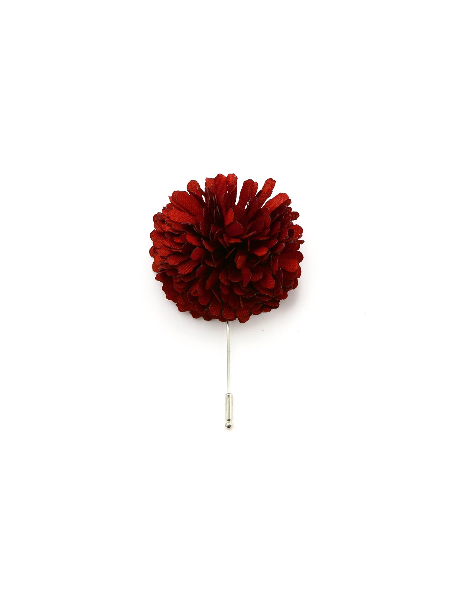 Burgundy Silk Lapel Pin
