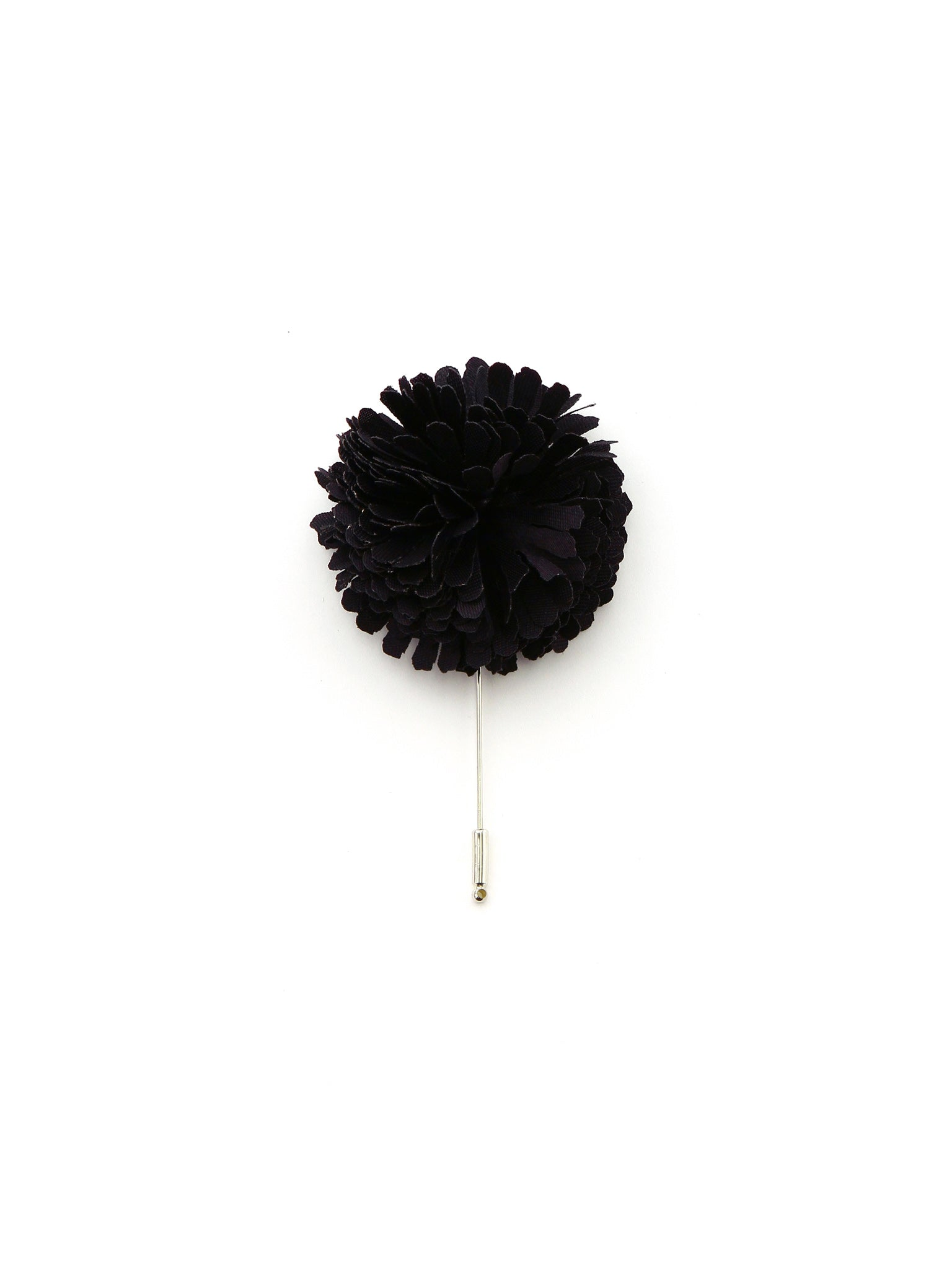 Black Silk Lapel Pin