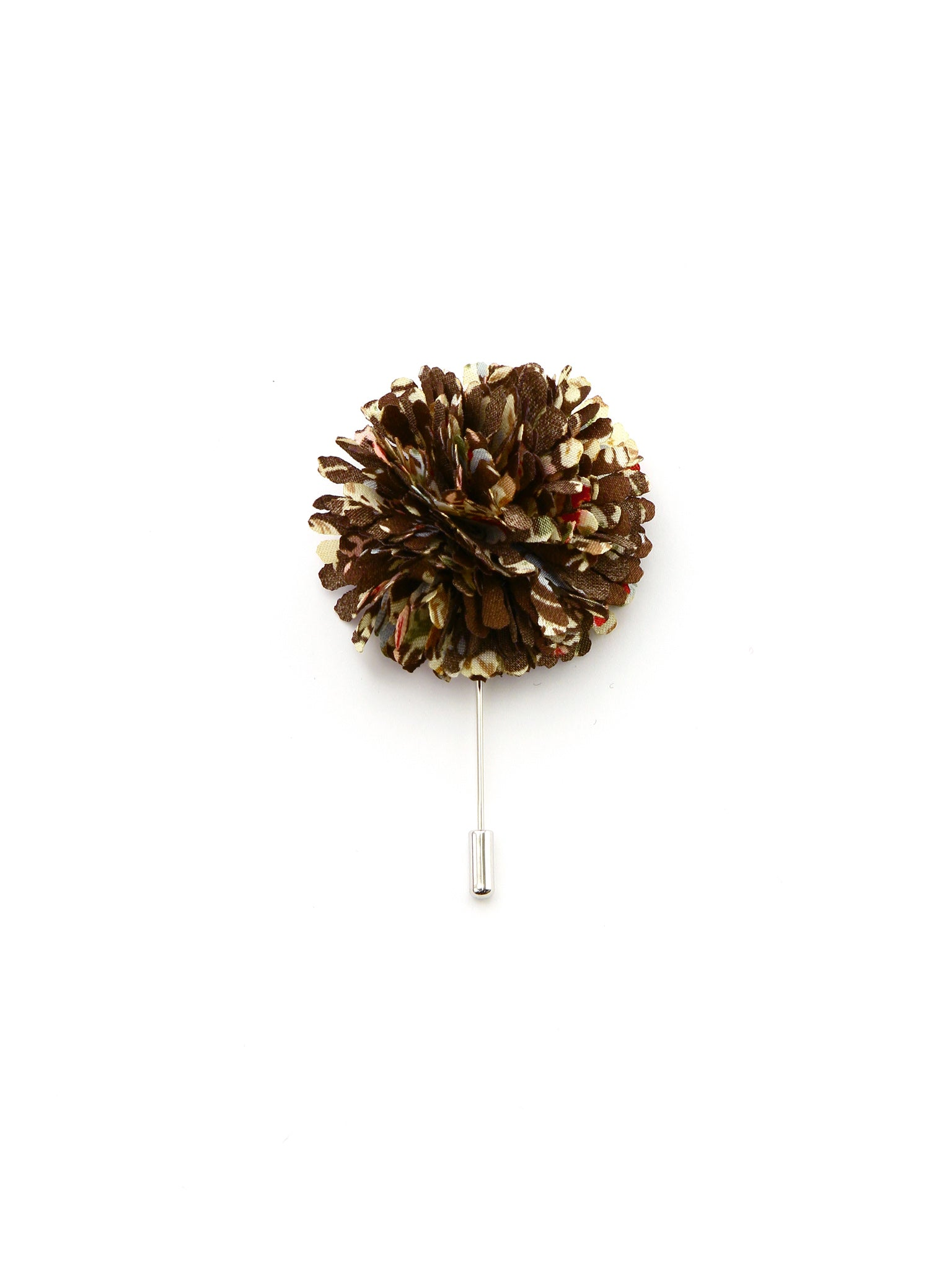 Brown Confetti Silk Lapel Pin