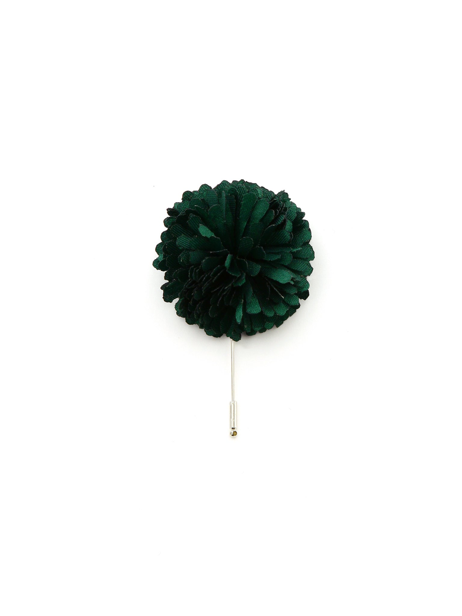 Emerald Silk Lapel Pin