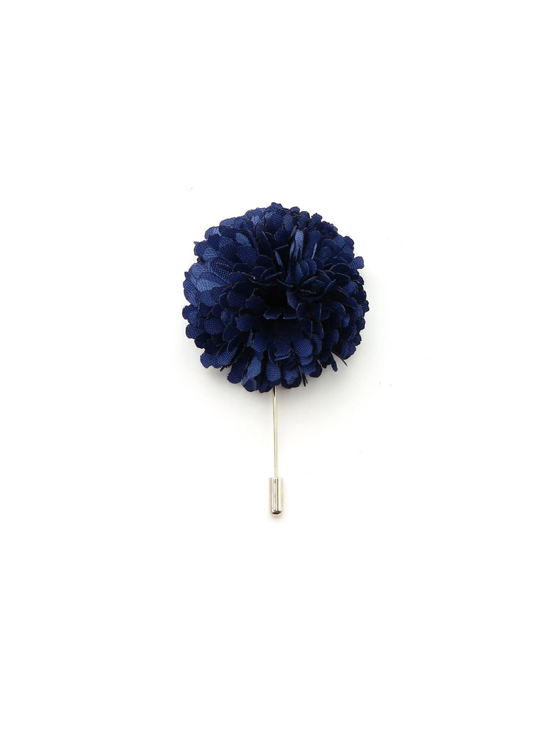 Navy Silk Lapel Pin