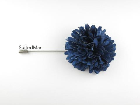 Suited Man Silk Ball Lapel Pin