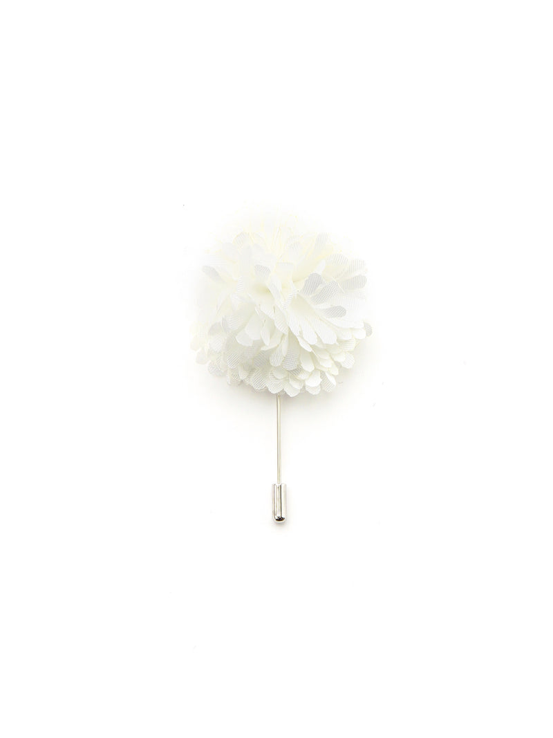 White Silk Lapel Pin