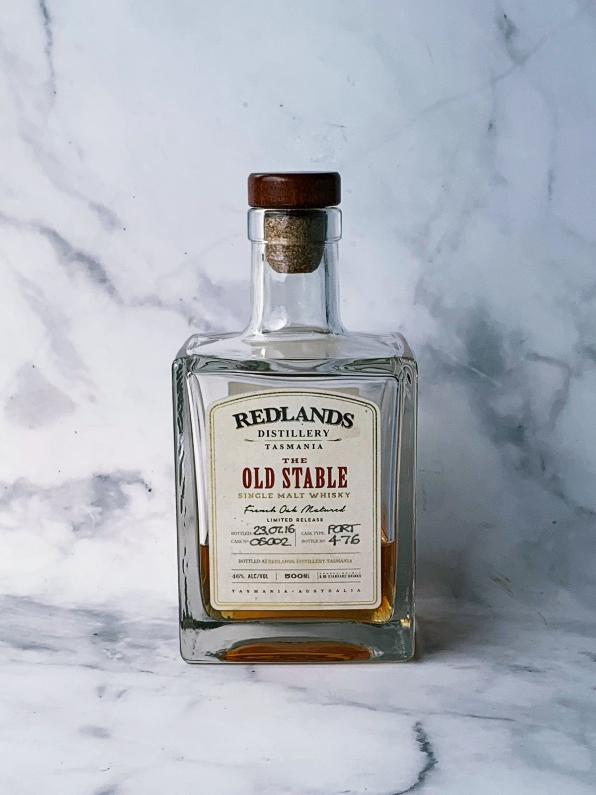 "Redlands Distillery ""The Old Stable"" Tasmania Single Malt Whisky (50ml serve)"