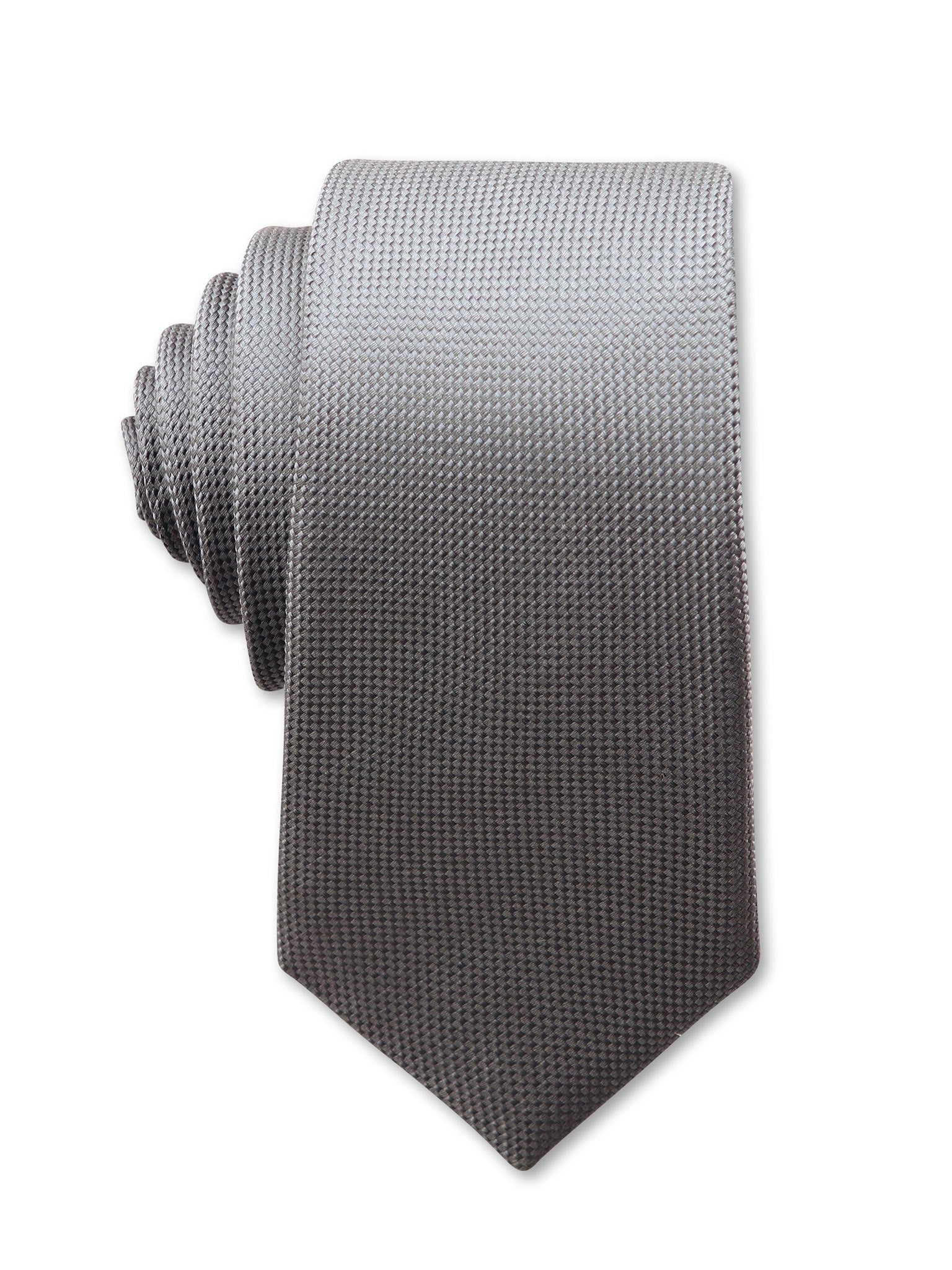 Grey Textured 7cm Dylan Luxury Silk Tie Made in Australia