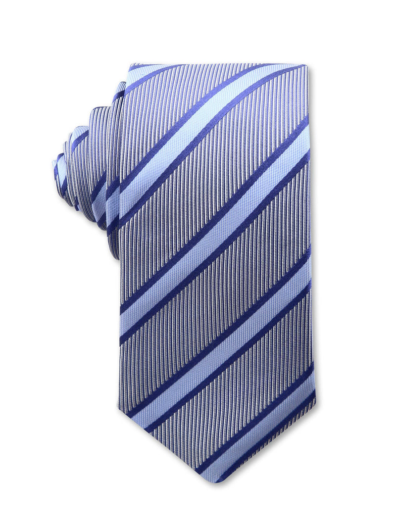 Blue Diagonal Stripe 7cm Chester Luxury Silk Tie Made in Australia