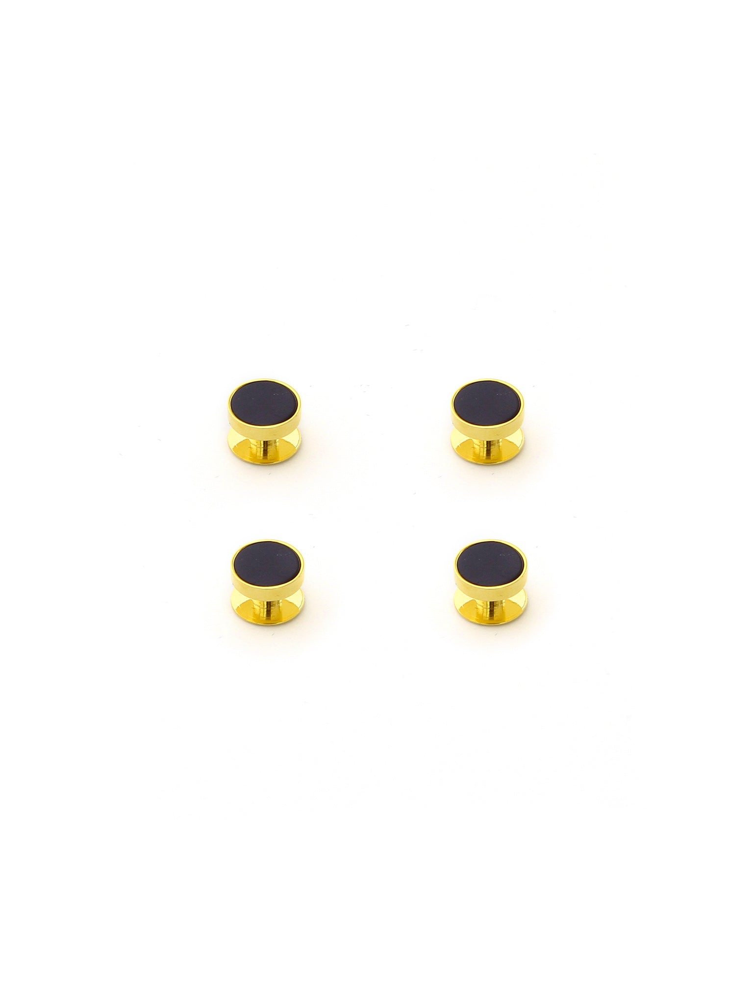Black/Gold 4pc Stud Set