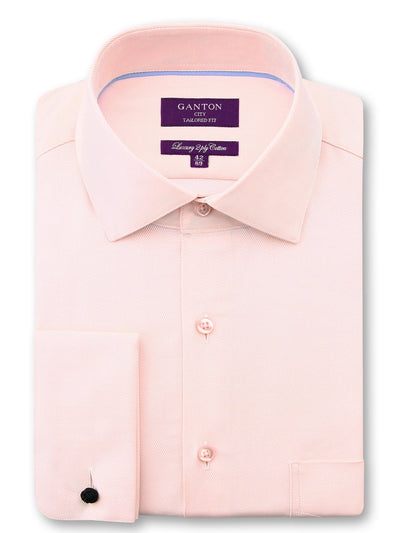 Pink Twill Tailored Fit Dale Luxury 2 Ply Cotton Shirt