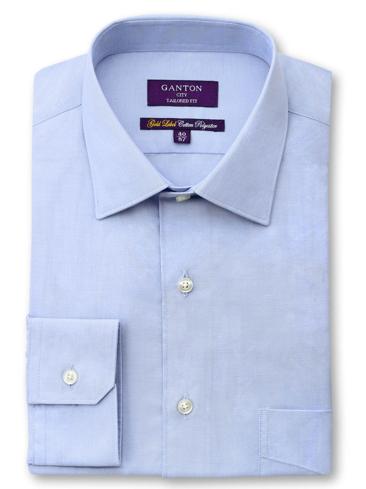 Blue Gold Label City Tailored Fit Cotton Polyester Shirt
