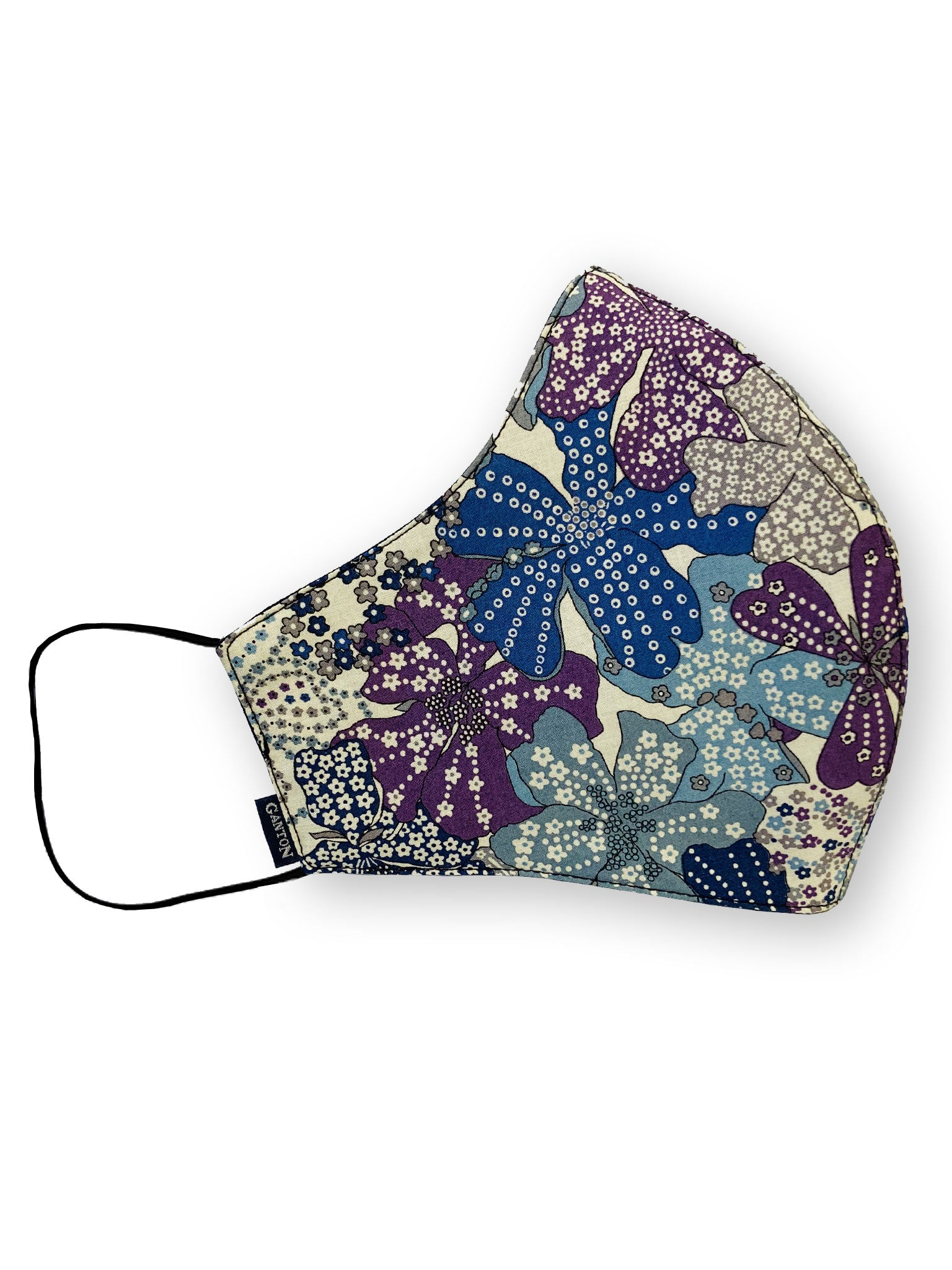 Blue and Purple Print Reversible Four Layer Washable Face Mask
