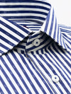 Navy White Stripe Tailored Fit Harper Luxury 2 Ply Shirt