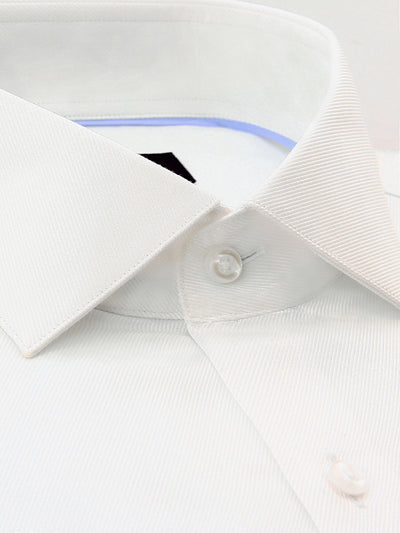 White Twill Classic Fit Reece Luxury 2 Ply Cotton Shirt