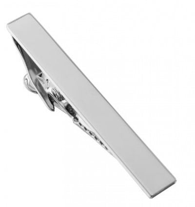 Brushed silver Tie Clip