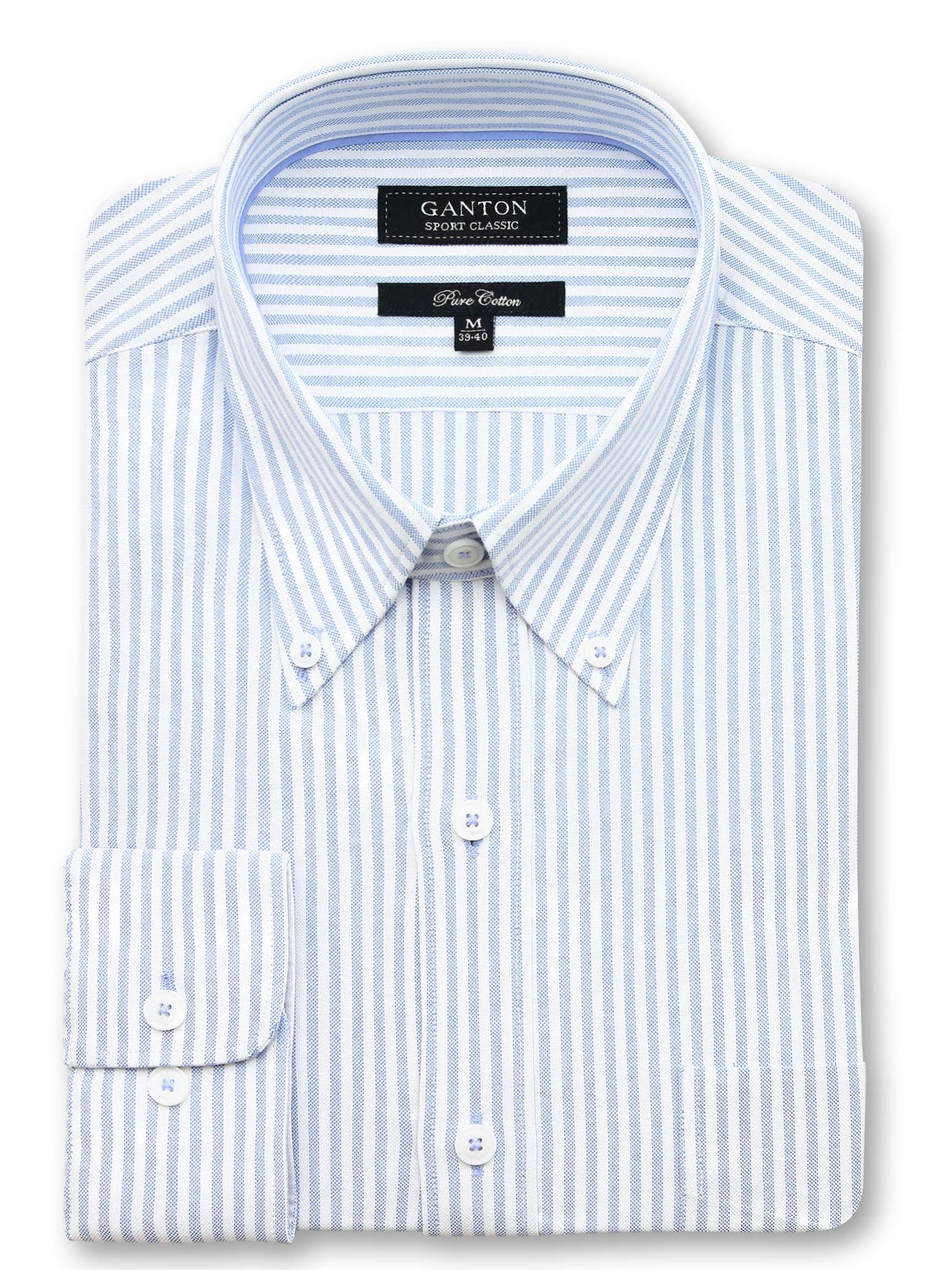 Blue White Stripe Classic Fit Justin Pure Cotton Shirt