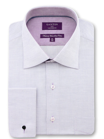 Light Pink Check Tailored Fit Perry Pure Cotton Shirt