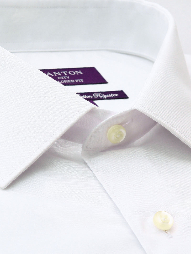 White Gold Label City Tailored Fit Cotton Polyester Shirt