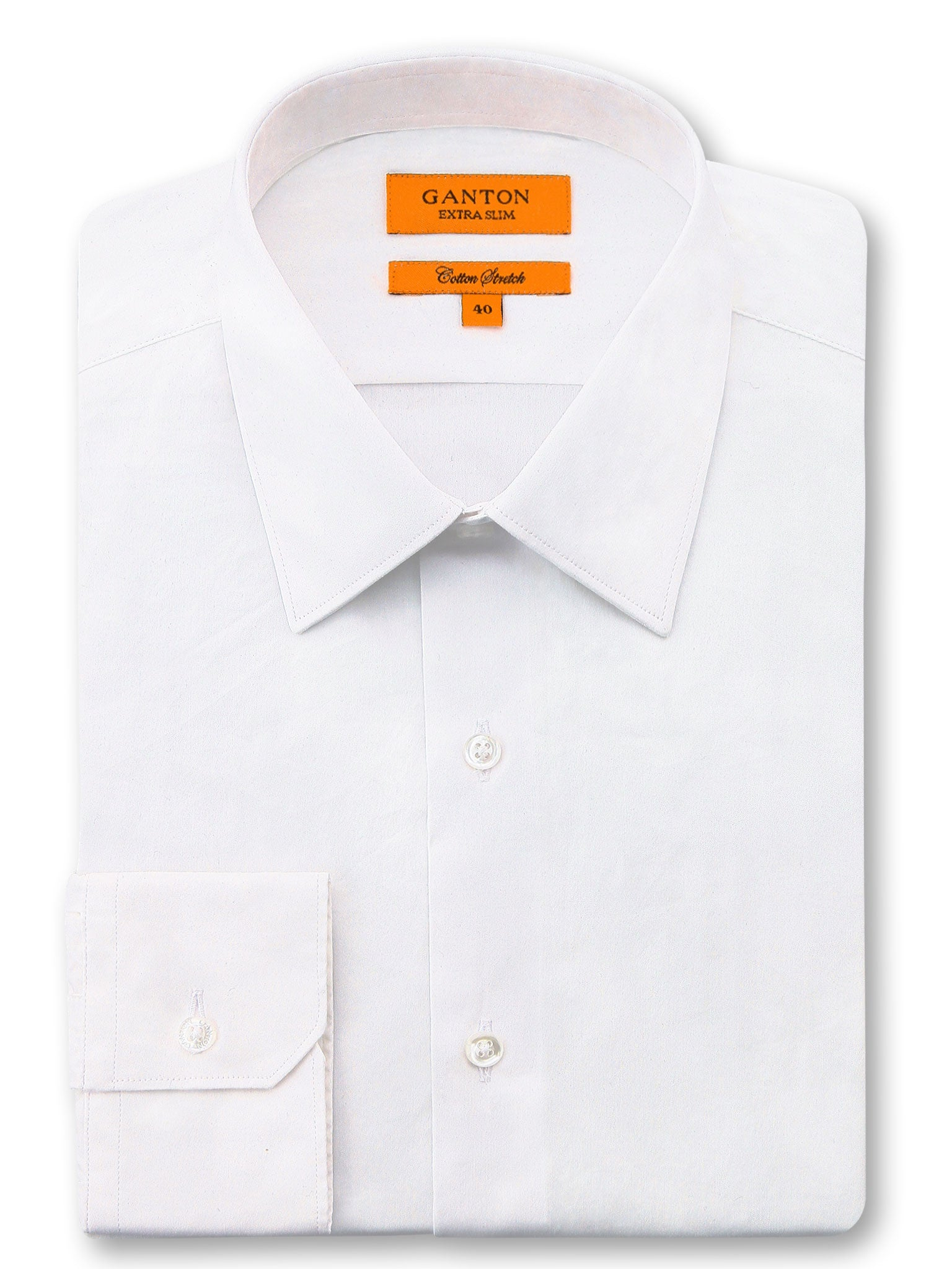 White Plain Slim Fit Raymond Cotton Stretch Shirt