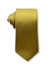 Gold Plain 7cm Ganton Essentials Italian Silk Tie Made in Australia