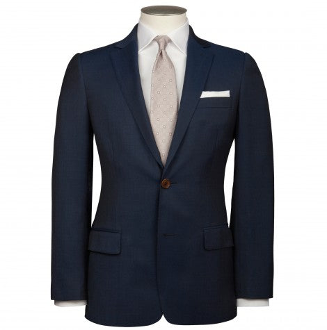 Lewis Blue Contrast Twill Suit