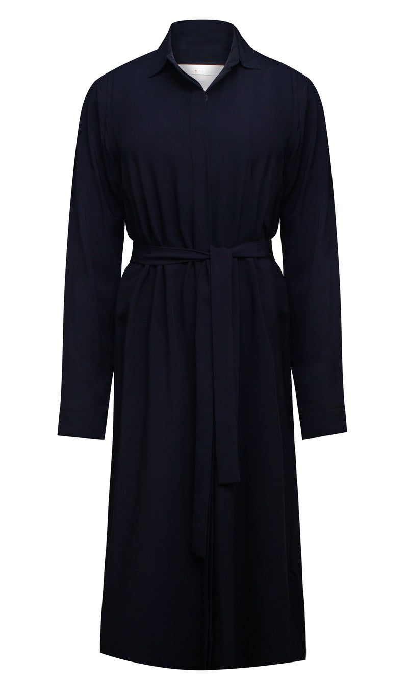 Louka + Sabina Shirt Dress Navy