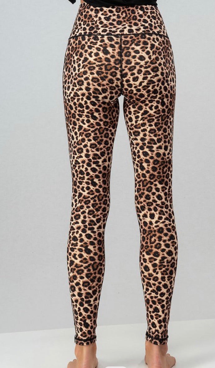 High Wasted Leopard Active Leggings