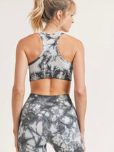 Load image into Gallery viewer, Tie - Dye seamless Ribbed Racerback Sports Bra