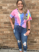 Load image into Gallery viewer, Cheetah Tie Dye Tee