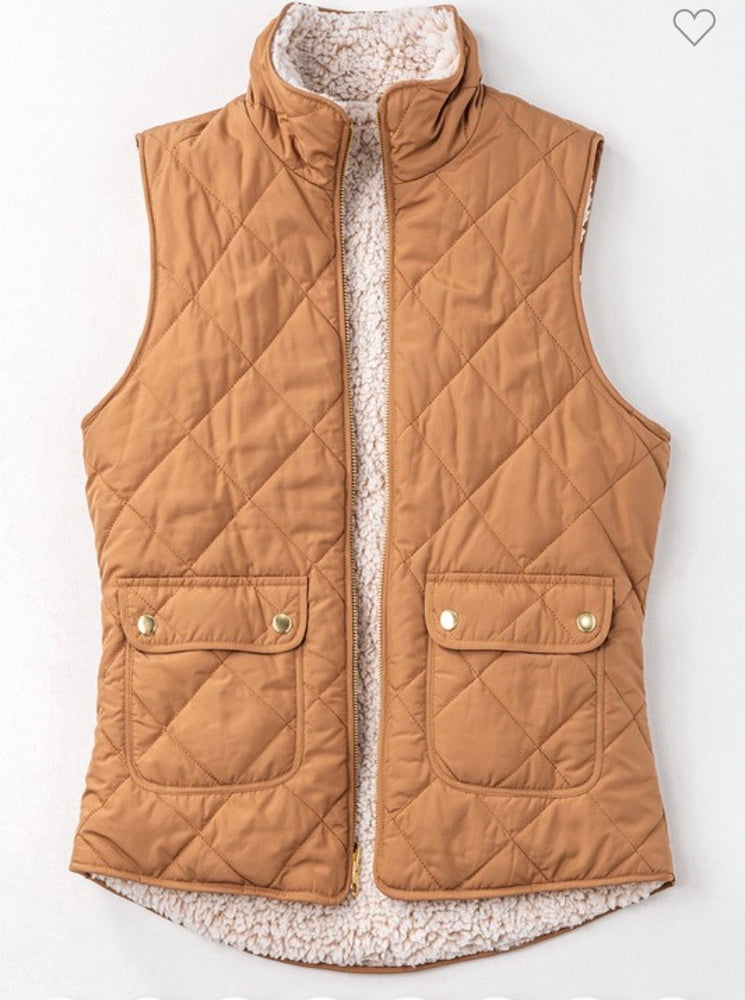 Always Finding You Reversible Sherpa Vest