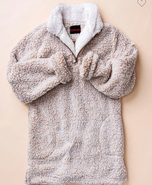 Snowy Dreams Sherpa Quarter ZIP Pullover