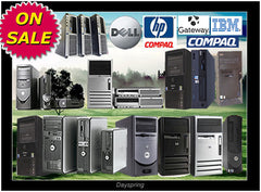 💗ANY TOWER DUAL CORE WINDOWS 7 Professional TOWER Dell HP IBM Gateway.....