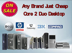 💗ANY CORE 2 DUO WINDOWS 7 Professional DESKTOP Dell HP IBM Gateway.....