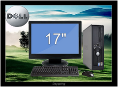 C2D 3.0GHZ 8G 750GB W10(64)17in LCD Dell Optiplex 330 360 745 755 Desktop