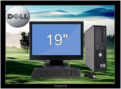 C2D 3.0GHZ 8G 1TB W7(64) 19in LCD Dell Optiplex 330 360 745 755 Desktop