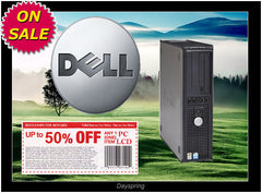Dell PD 3.0GHZ 2GB 80GB Win7 Pro32bit GX520 GX620 GX745 Desktop