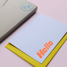 Load image into Gallery viewer, Hello Letterpress Notecard Set