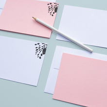 Load image into Gallery viewer, Dotty Animal Print Letterpress Notecard Set in Pink