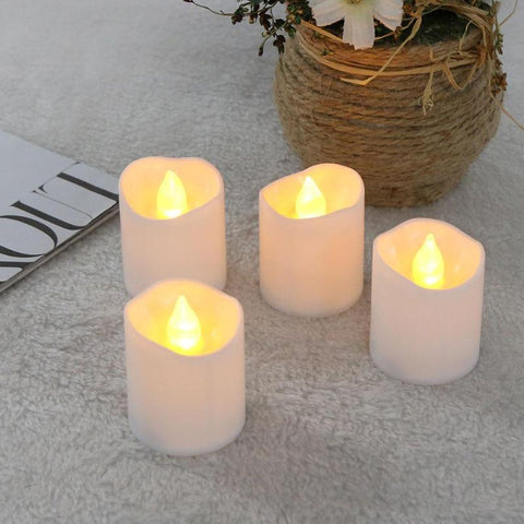 12 BOUGIES LED FLAMME OSCILLANTE BLANCHE