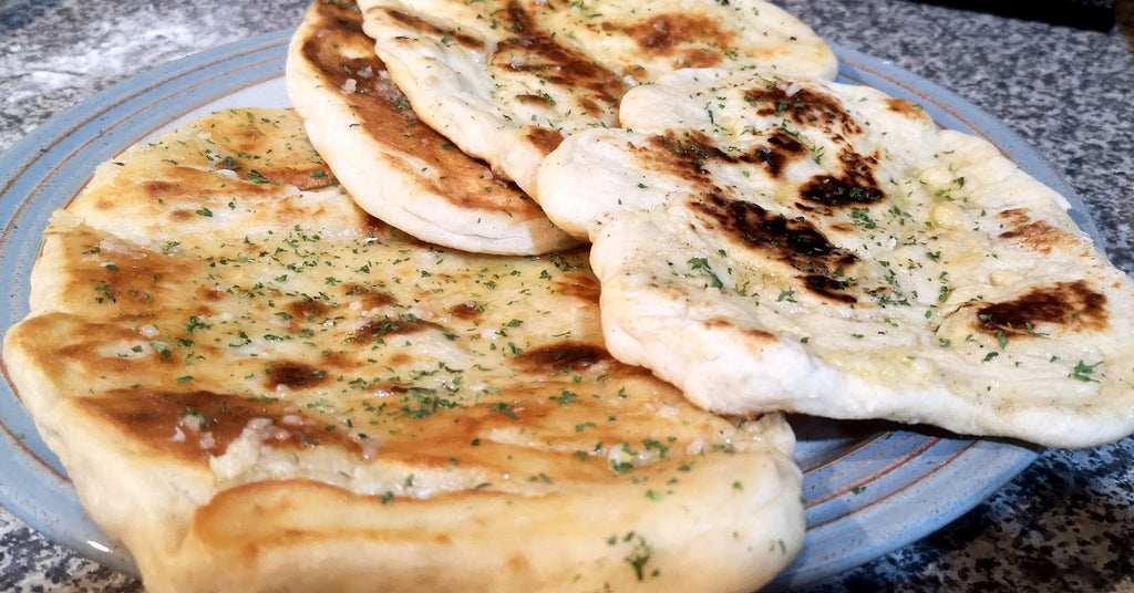 RECIPE: Naan Bread made with homemade yoghurt (dough proved in YogurtNest)