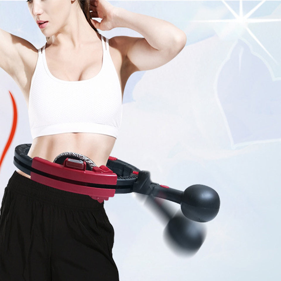Auto-Spin Weighted Hula Hoop for Abs Workout