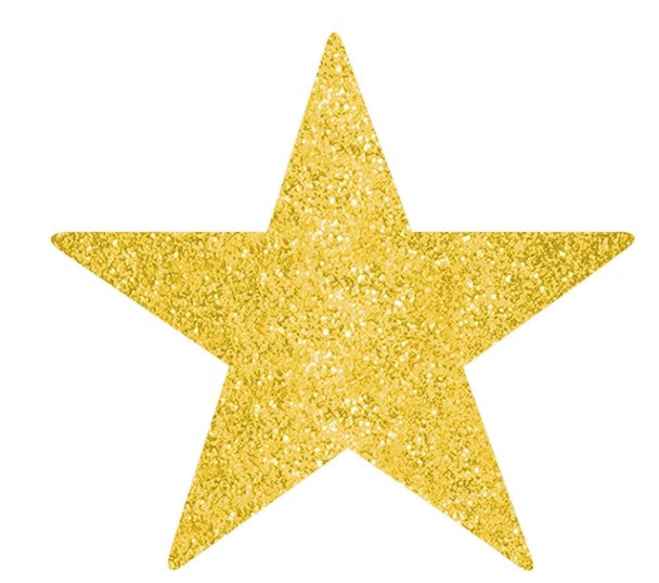 HANGING DECOR – Styro Gold Star Cut-outs