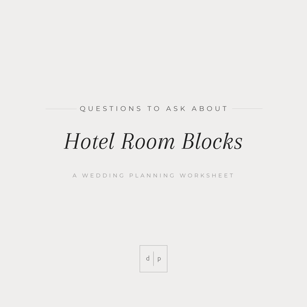 Worksheet: Questions to Ask About Hotel Room Blocks