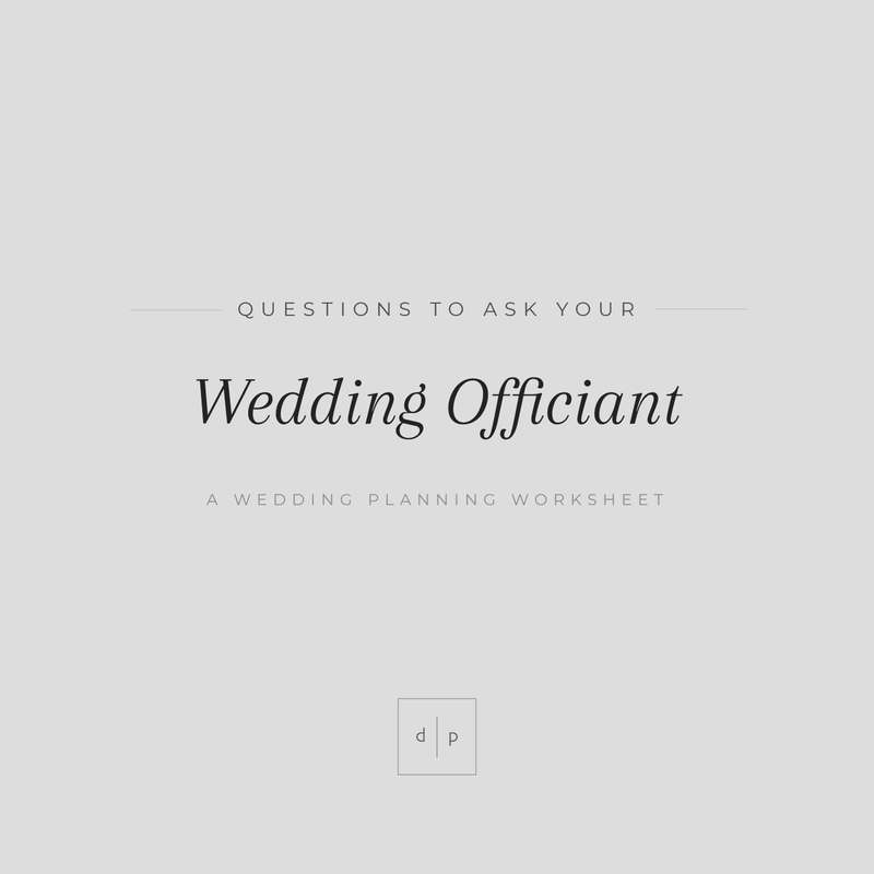 Worksheet: Questions to Ask Your Officiant