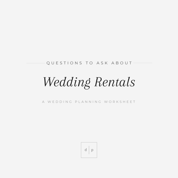 Worksheet: Questions to Ask Your Rental Company