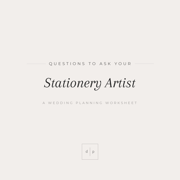 Worksheet: Questions to Ask Your Stationery Artist