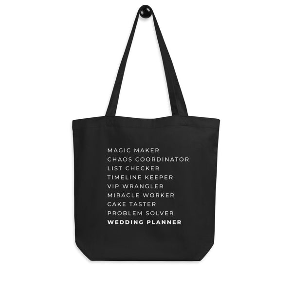 Magic Maker Wedding Planner Organic Tote Bag - ADD YOUR LOGO