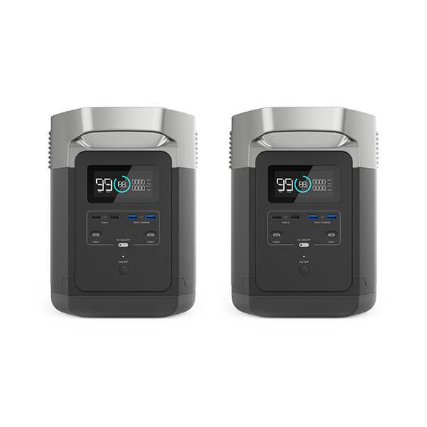 2x EcoFlow DELTA 1300 Power Station