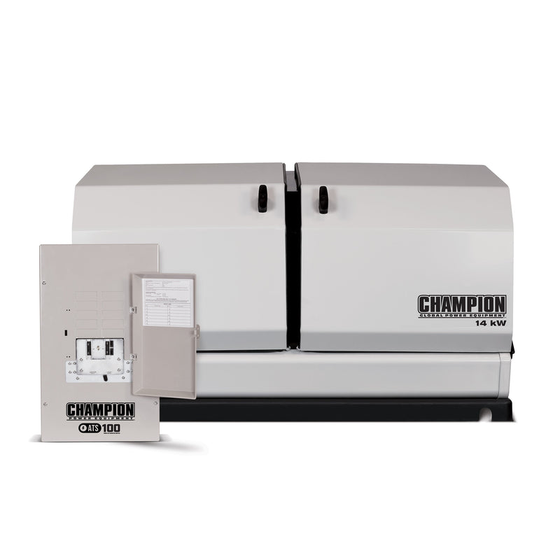 Champion 14kW Home Standby Generator with 100-Amp Switch